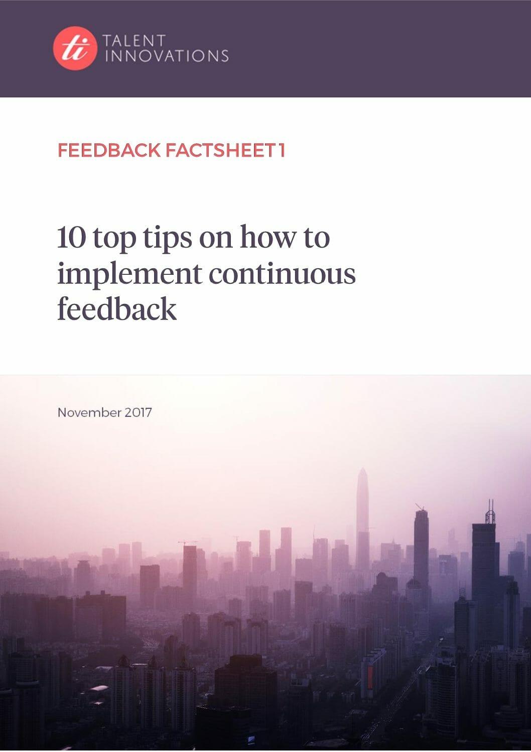 Feedback Factsheet 1