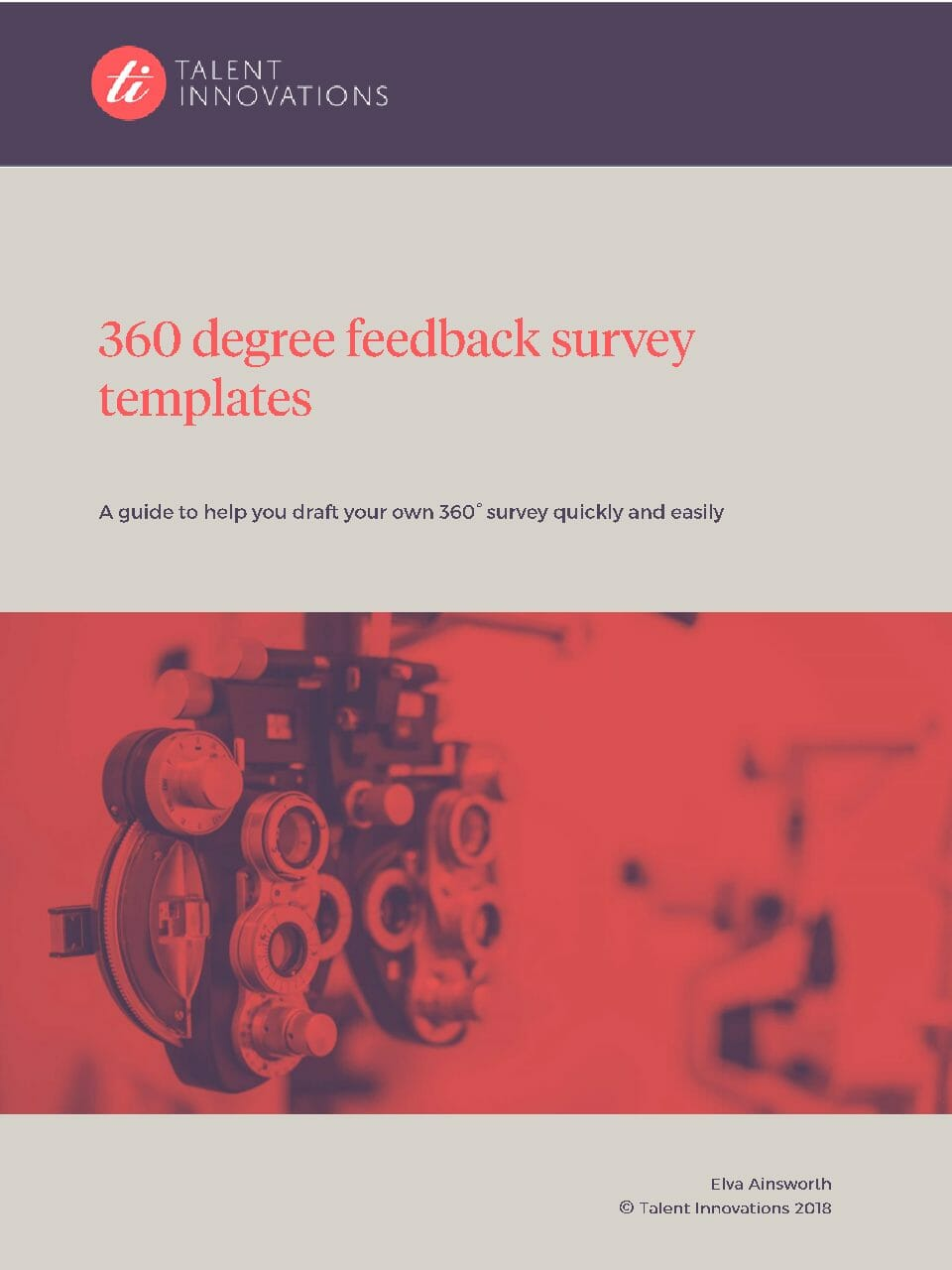 360 Guide 4 – 360 degree feedback survey templates