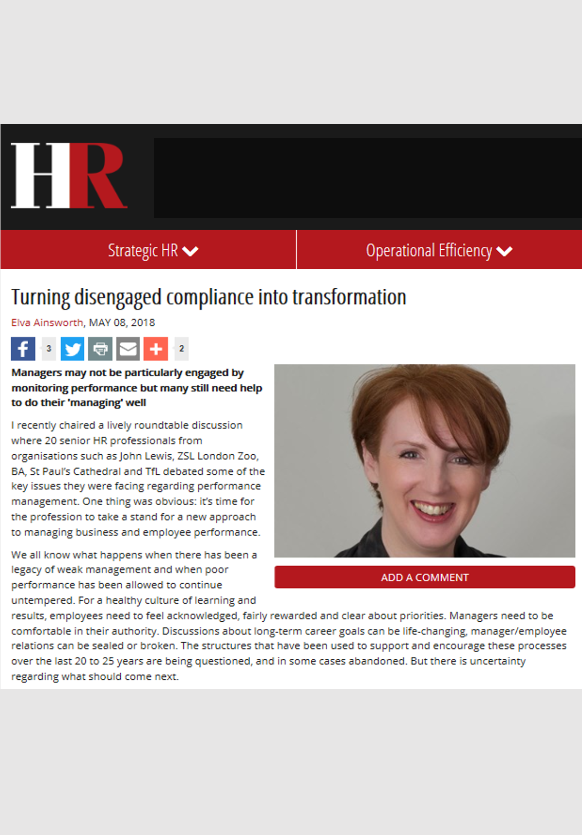 HR Magazine – May 2018