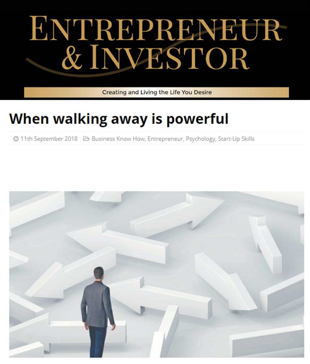 Entrepreneur & Investor – Sep 2018
