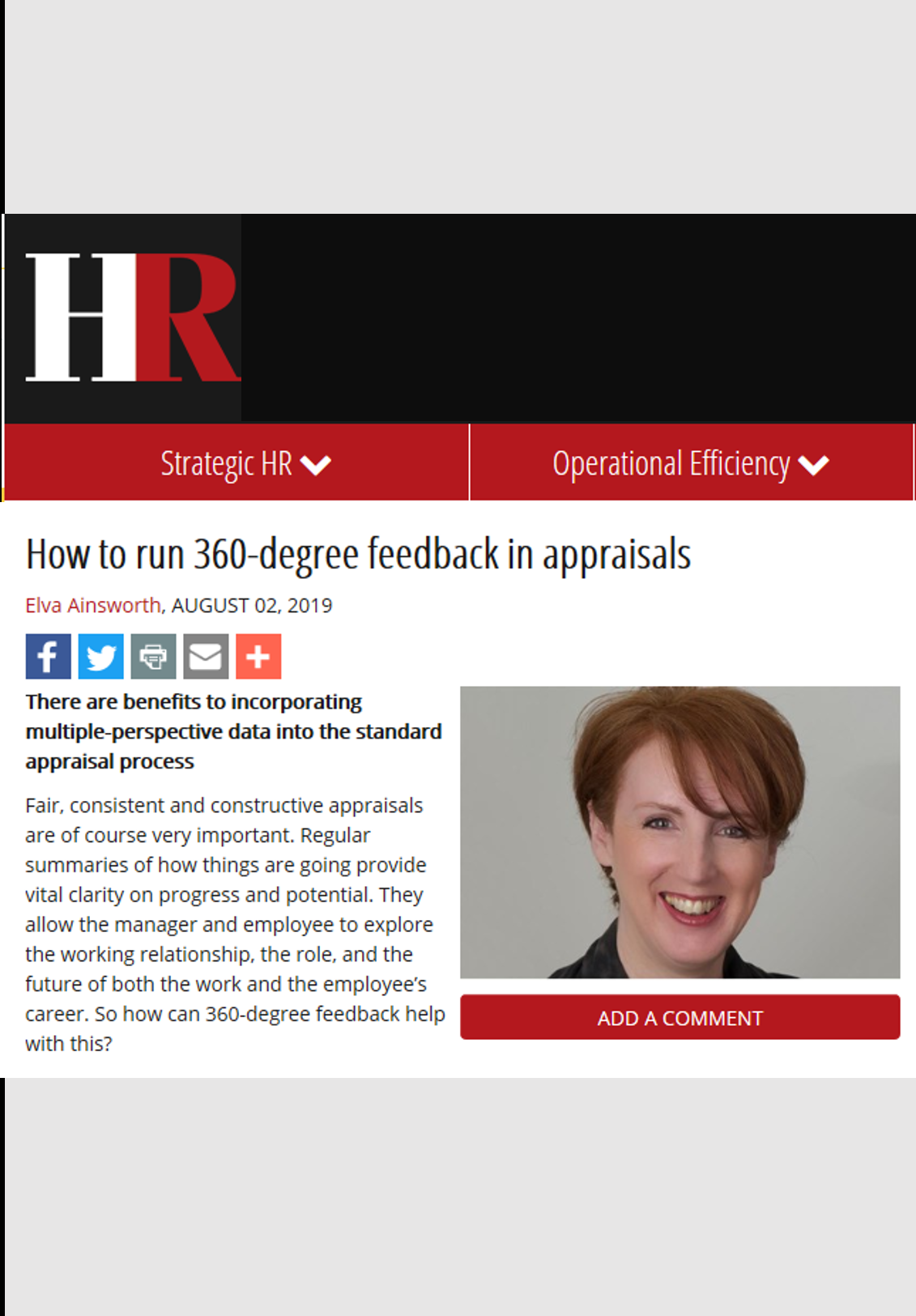 HR Magazine – Aug 2019