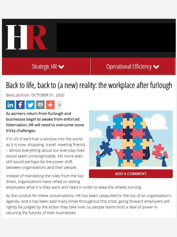HR Magazine – Oct 2020